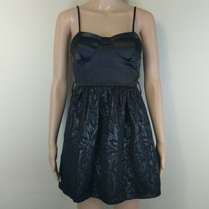 [F21] LBD Little Black Metallic Dress S